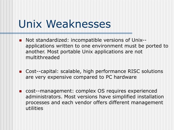 Unix Weaknesses
