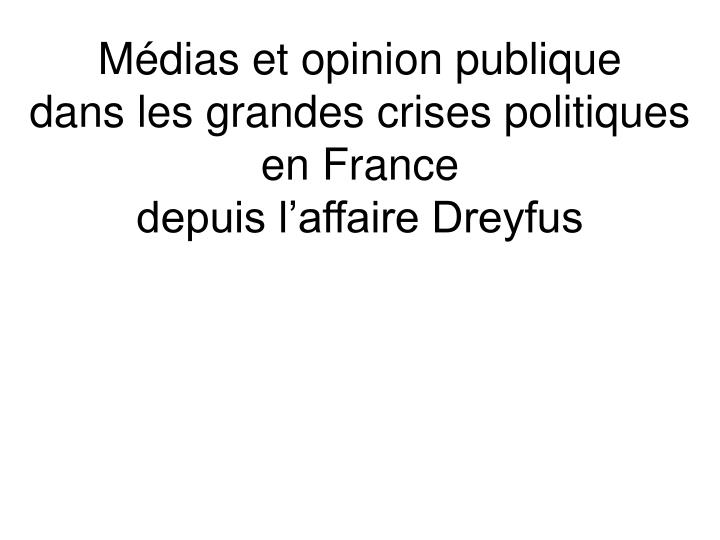 Mdias et opinion publique