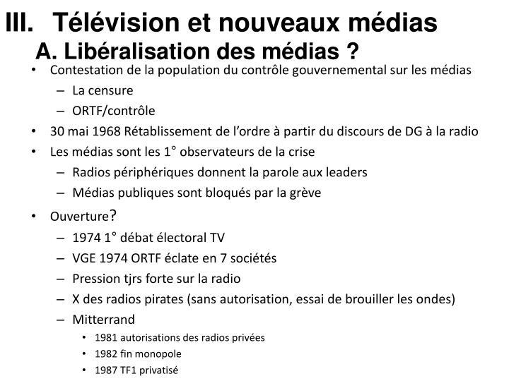 Télévision et nouveaux médias