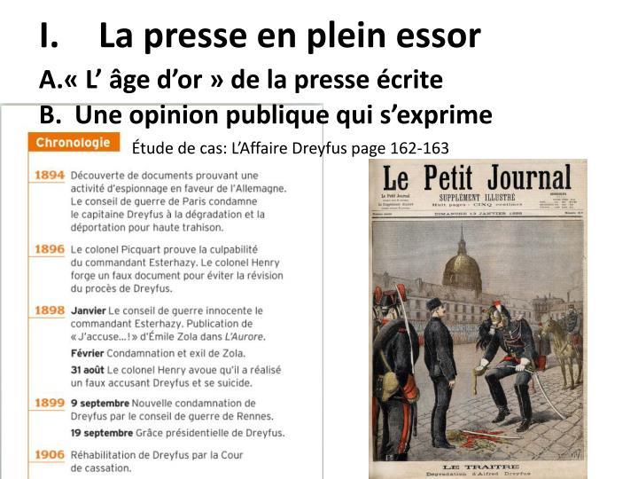 La presse en plein essor