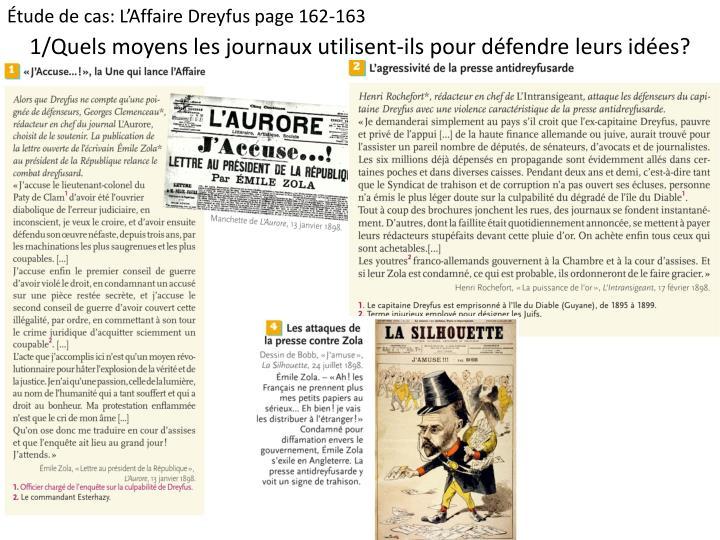 Étude de cas: L'Affaire Dreyfus page 162-163