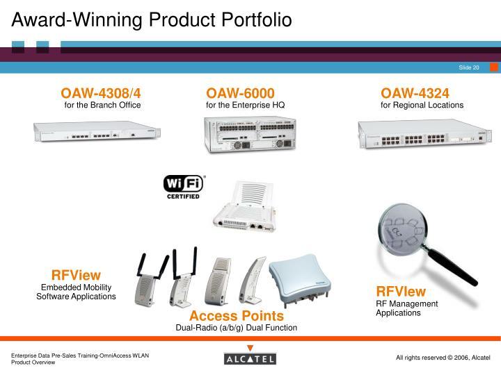Award-Winning Product Portfolio