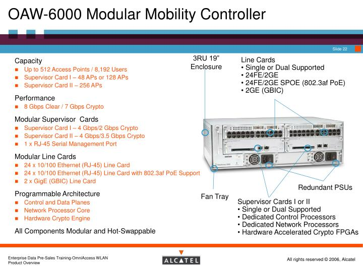 OAW-6000 Modular Mobility Controller