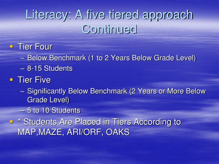 Literacy: A five tiered approach