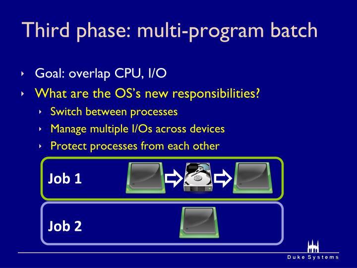 Third phase: multi-program batch