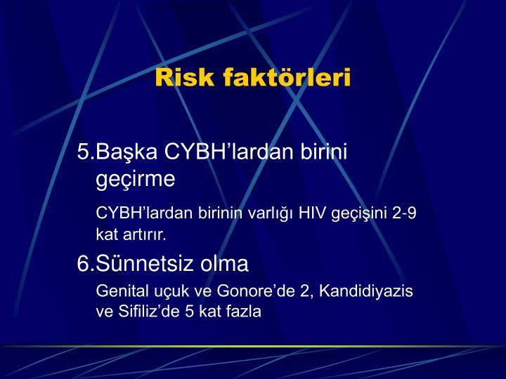 Risk faktörleri