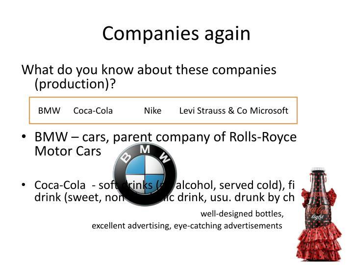 Companies again