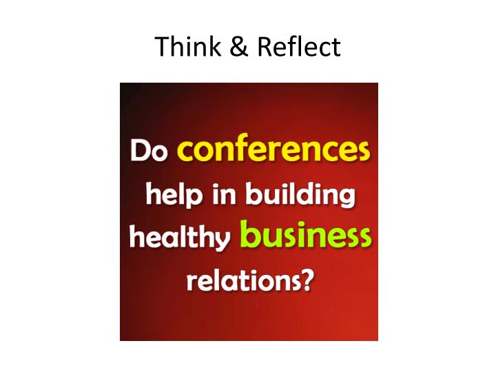 Think & Reflect