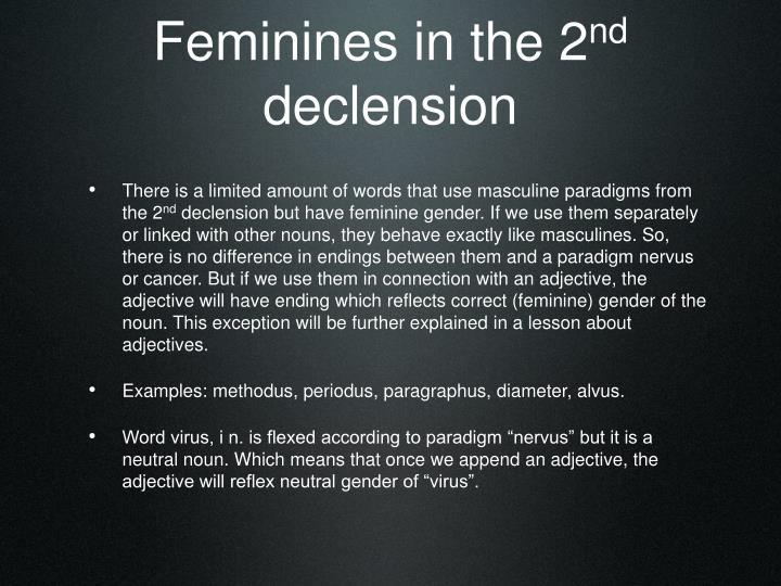 Feminines in the 2
