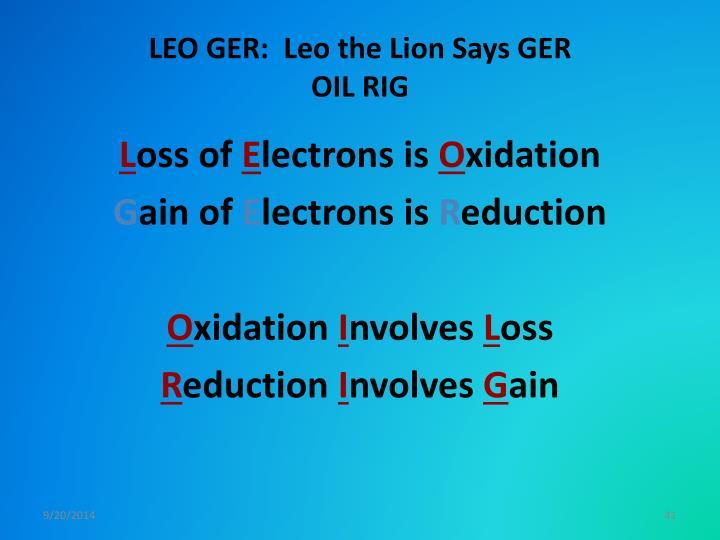 LEO GER:  Leo the Lion Says GER