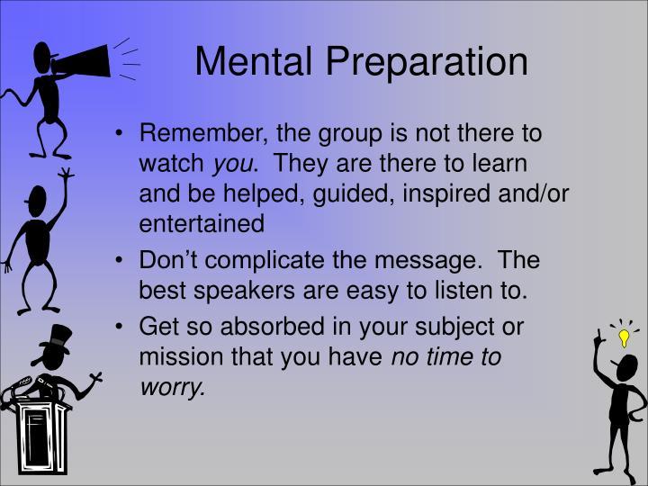 Mental Preparation
