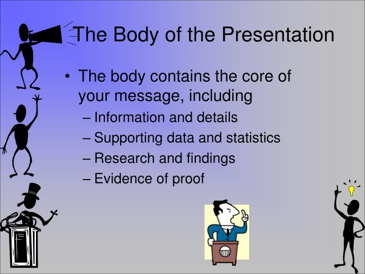 The Body of the Presentation