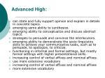 advanced high