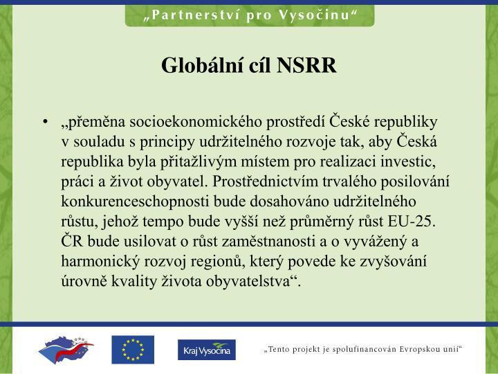 Globální cíl NSRR