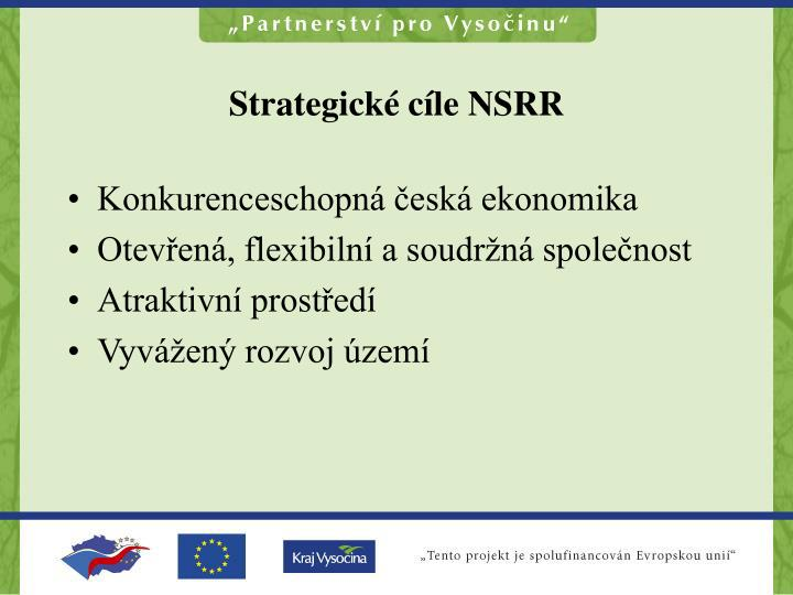Strategické cíle NSRR