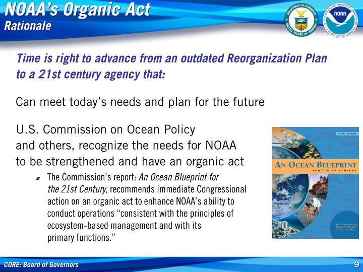 NOAA's Organic Act