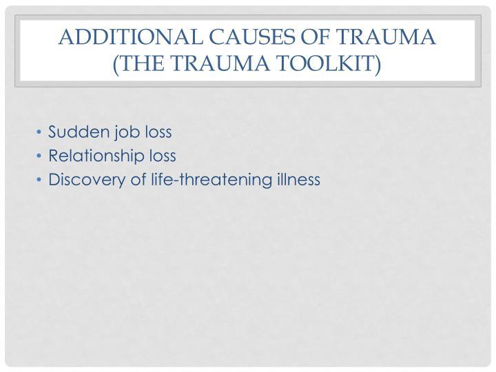 Additional Causes of trauma