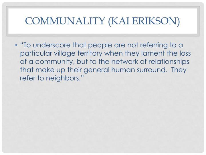 Communality (Kai