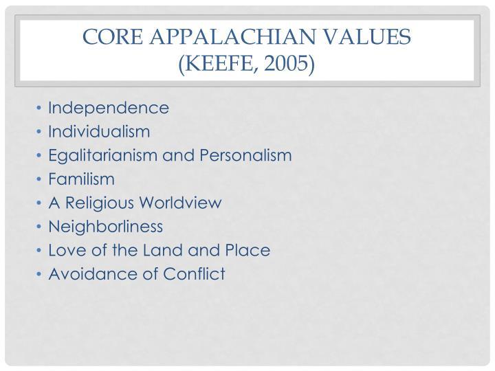 Core Appalachian values