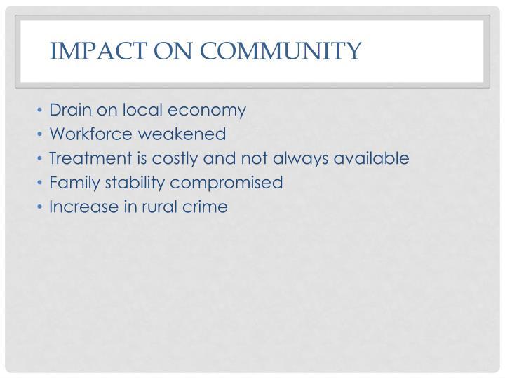 Impact on community