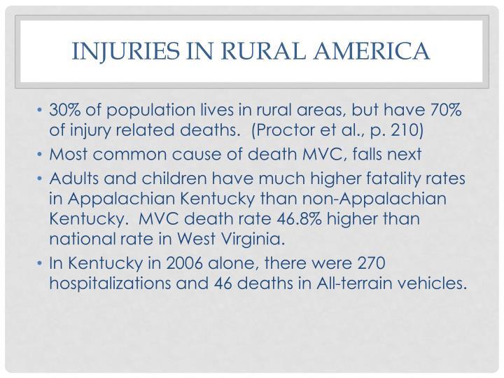 Injuries in rural