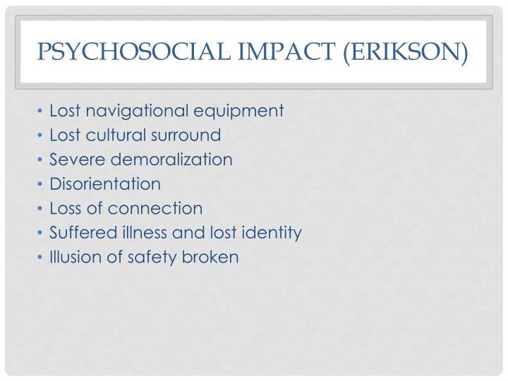 Psychosocial impact (Erikson)