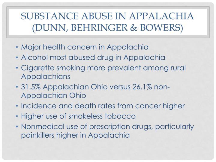 Substance Abuse IN Appalachia (Dunn,