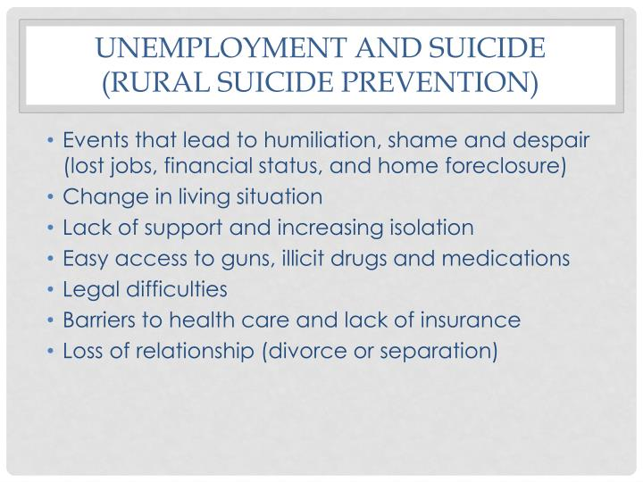 Unemployment and suicide