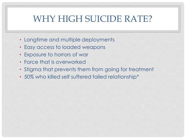Why high suicide rate?