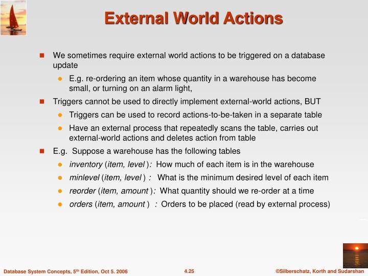 External World Actions