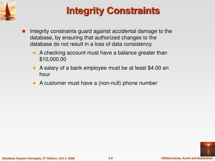Integrity Constraints