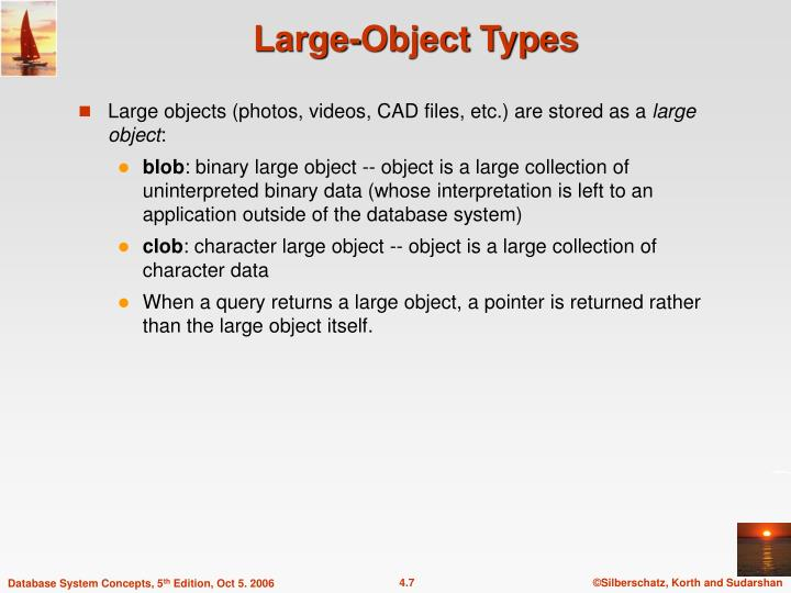 Large-Object Types
