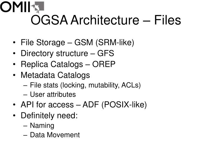 Ogsa architecture files