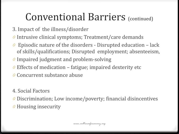 Conventional Barriers
