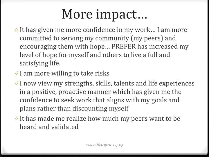 More impact…