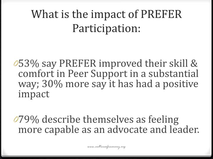 What is the impact of PREFER Participation: