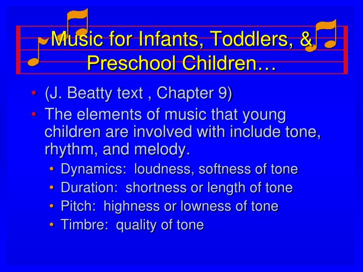 Music for Infants, Toddlers, & Preschool Children…