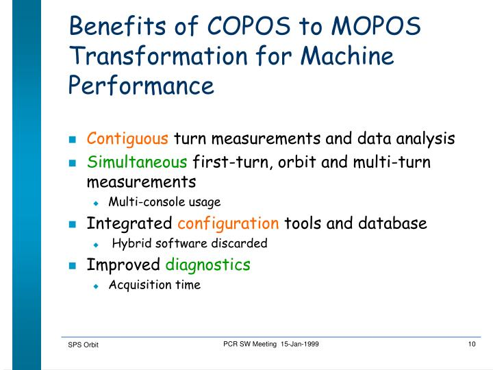 Benefits of COPOS to MOPOS Transformation for Machine Performance