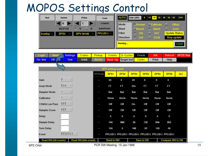 MOPOS Settings Control
