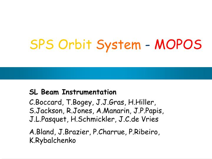 SPS Orbit