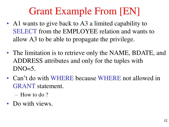 Grant Example From [EN]