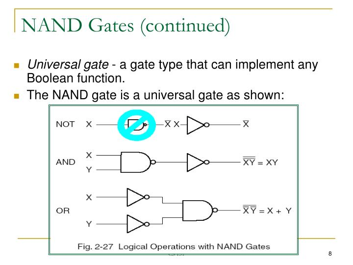 NAND Gates (continued)