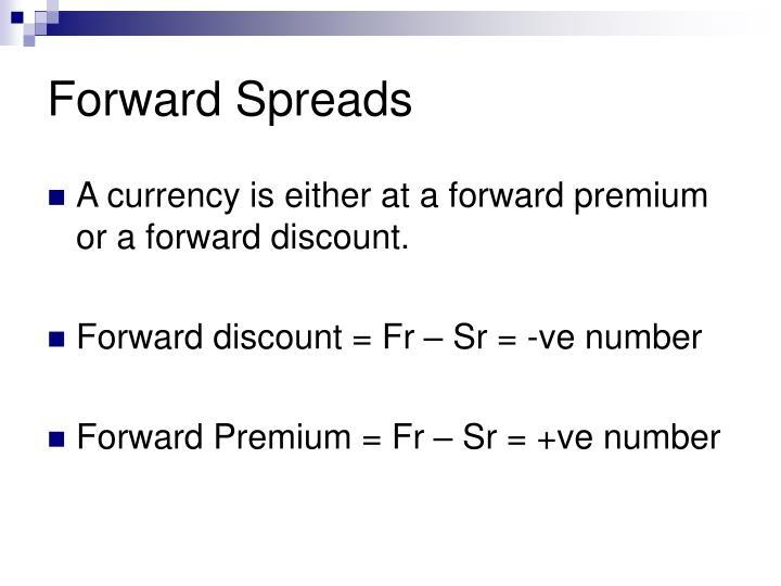 Forward Spreads