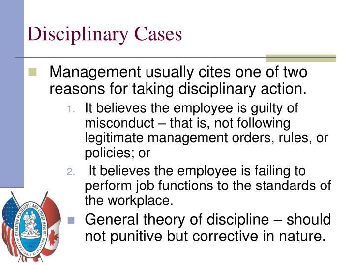 Disciplinary Cases