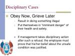 disciplinary cases11