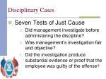 disciplinary cases5