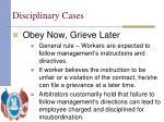 disciplinary cases9