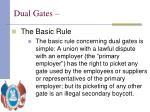 dual gates