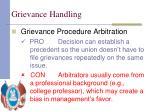 grievance handling26