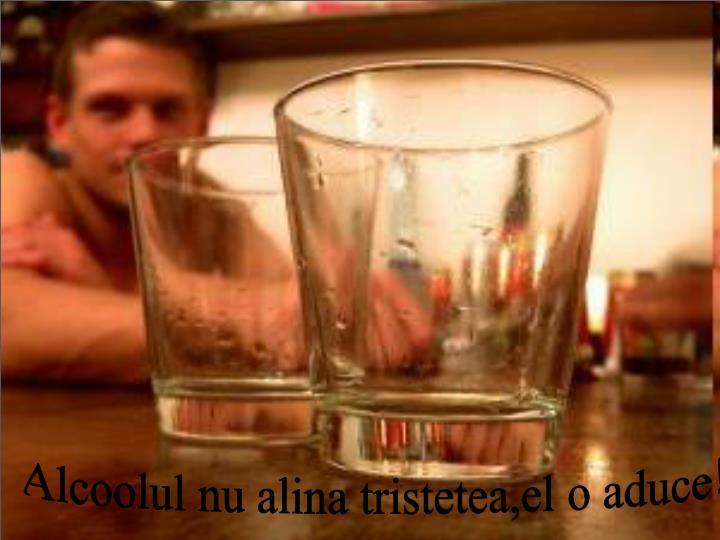 Alcoolul nu alina tristetea,el o aduce!